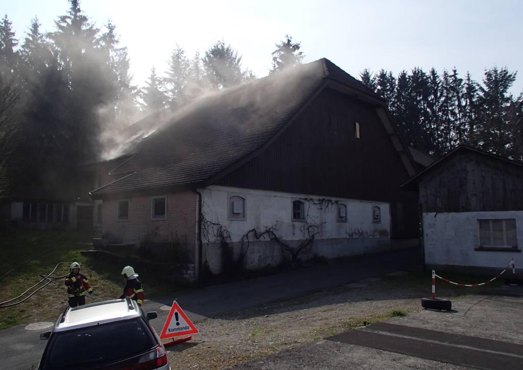 Moosleerau AG – Beträchtlicher Schaden nach Brand in Einfamilienhaus