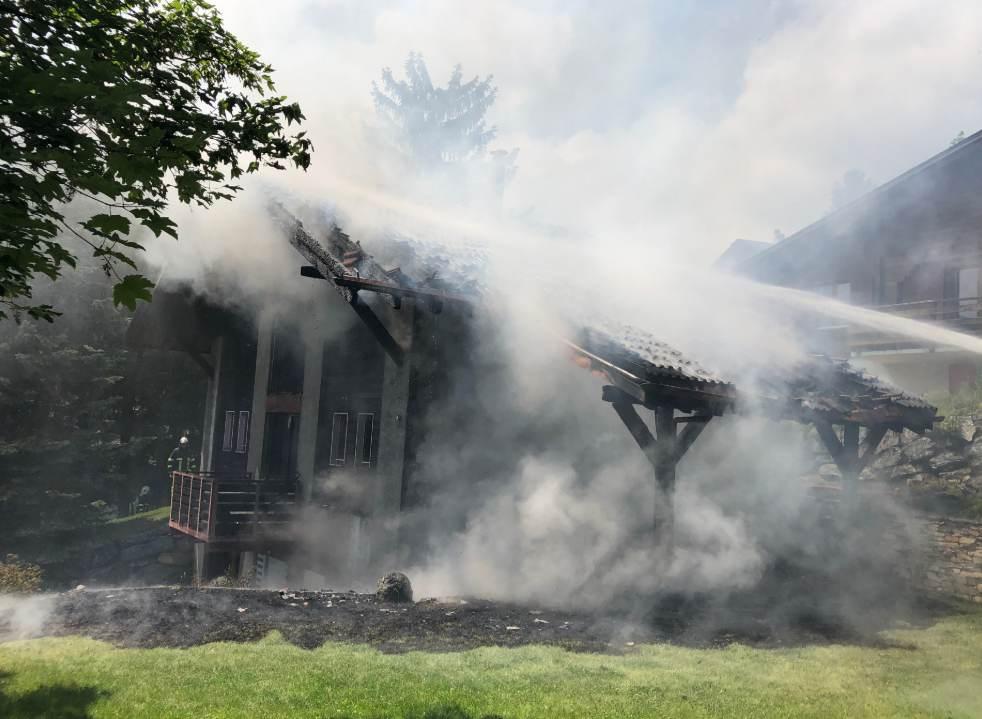 Ovronnaz VS – Chalet in Brand geraten