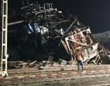 Birsfelden BL - Sturm bringt 400 Tonnen schweren Brückenkran zum Einsturz