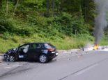 Engelberg OW - Motorradfahrer nach Unfall schwer verletzt