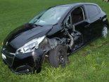 Unfall in Haslen AI - Frontalkollision während Überholmanöver