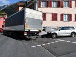 Chur GR - Unfall zwischen Auto und Lastwagen