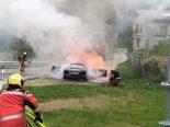 Pian San Giacomo GR - Auto auf A13 vollständig ausgebrannt