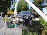 Ramsen SH - Auto kracht bei Verkehrsunfall in Elektroverteilkasten