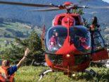 Walchwil ZG - Rettungshelikoptereinsatz nach Sturz auf Walchwilerberg