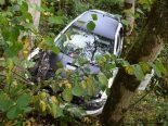 Hundwil AR - Nach Selbstunfall zwischen Bäumen gelandet