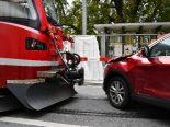 Unfall Chur GR - Auto kollidiert mit Arosabahn