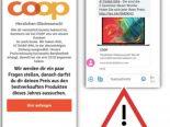 Kriminelle versenden Phishing-SMS im Namen von Coop