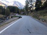 Unfall Preda GR - Motorrad prallt in Fussgänger