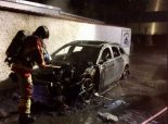 Bern BE - Auto in Vollbrand