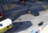 St.Gallen SG - Töfffahrer (21) bei Unfall am Bein verletzt