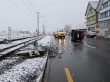 Unfall Meistersrüte AI - Auto gerät auf Trassee der Appenzellerbahnen