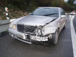 Verkehrsunfall A4, Cham ZG - Autolenker prallt in Leitplanke