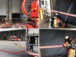 Bern BE - Brand im Kehrichtbunker von Energie, Wasser Bern