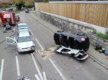 Therwil BL - Verkehrsunfall mit vier beteiligten Autos
