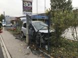 Selbstunfall Bubendorf BL - Mit Auto Zaun durchschlagen