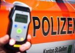 St.Gallen SG - Fünf fahrunfähige Fahrer angezeigt