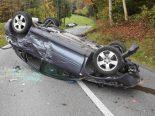 Verkehrsunfall Rorschach SG - Auto überschlägt sich