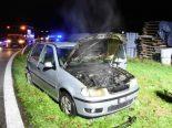 Mörschwil SG - Auto brennt auf A1