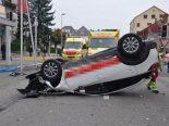 Unfall in Grenchen SO - Auto überschlägt sich