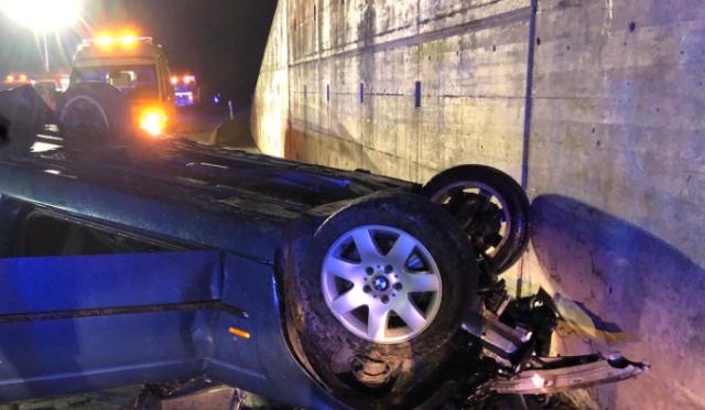Unfall Grône VS - Automobilist mit Fahrzeug überschlagen und verstorben