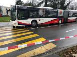 Unfall Baden-Dättwil AG - Fußgänger durch Linienbus schwer verletzt