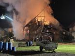Merenschwand AG - Ehemaliges Bauernhaus in Vollbrand geraten
