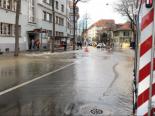 Bern BE - Großer Einsatz wegen Wasserleitungsbruch