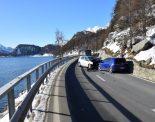 Unfall Sils/Segl Baselgia GR - Doppelter Totalschaden nach Frontalkollision