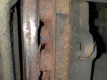 Rüdlingen SH - Bremsen an Sattel-Sachentransportanhänger komplett abgenutzt