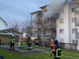 Stein AG - Brandausbruch in Mehrfamilienhaus