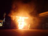 Roggwil TG - Bankomat in Brand gesetzt und geflüchtet