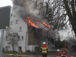 Wangen SZ - Hausbewohner bei Brand verletzt