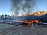 Oey BE - Scheune in Brand geraten