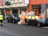 Schwyz SZ - Abgestelltes Auto in Brand geraten
