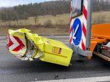 A3, Lupfig AG - Unfall mit Signalisationsfahrzeug