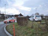 Selbstunfall Wangen bei Olten SO - Lenker landet auf Kreisverkehr