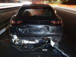 Unfall Sursee LU - Auf A2 in Porsche gekracht
