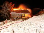 Bauma ZH - Bauernhaus in Brand