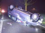 Verkehrsunfall in Buchrain LU - Fahrzeuglenker (39) überschlägt sich
