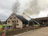 Uster ZH - Wohnhaus auf Bauernhof vollständig ausgebrannt