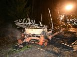 Brandstiftung Reitnau AG - Landwirtschaftsanhänger angezündet