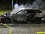Laufen BL - Auto beim Fahren in Brand geraten