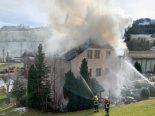 Hasle LU - Wohnhaus gerät in Brand
