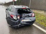 Unfall Klingnau AG - LKW prallt in Auto