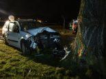 Mehlsecken LU - 18-jähriger Autofahrer kracht frontal in Baum