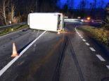 Obernau LU - Lieferwagenfahrer sucht nach Unfall das Weite