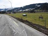 Ulisbach SG - Bei Verkehrsunfall heftig gegen Zaunpfosten geprallt