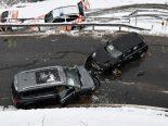 Maladers GR - Zwei Totalschäden nach heftigem Unfall