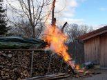 Wolfhalden AR - Nachbar verhindert Grossbrand